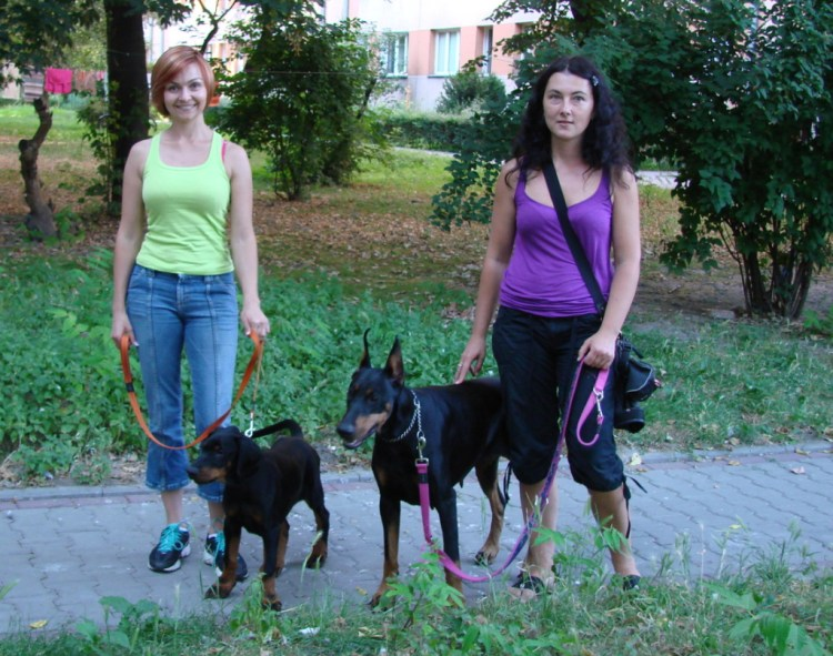 Greta z Padoku and her puppy