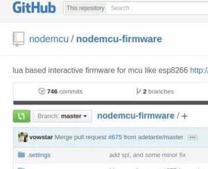 NodeMCU no GitHub | firmware nodeMCU