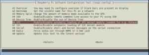 RC522 no Raspberry - Segundo menu do raspi-config