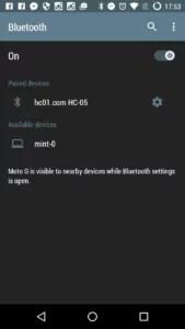HC-05 e Android (pareados)
