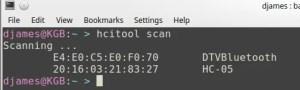 Bluetooth HC-05 - comando hcitool
