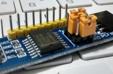 pcf8574 - expansor de I/O | PCF8574 com Arduino