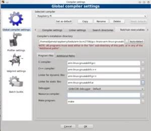Configurar toolchain no Codeblocks