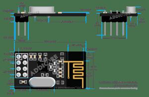 Posição do dispositivo para comparar à tabela acima | NRF24L01 com Arduino