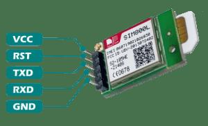SIM800L enviando SMS - SIM800L pinout