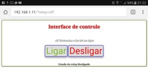 Simples interface web | webServer para o ESP8266