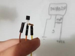 Solda do resistor 4k7