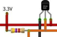 Wiring do DS18B20