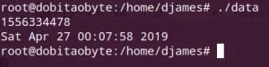 Programar em C++ no Raspberry - unix epoch