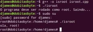 Programar em C++ no Raspberry - getuid