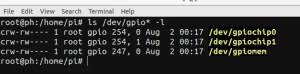 libgpiod no Raspberry em /dev/