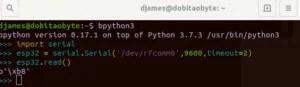 bluetooth no ESP32 - comunicação com Python