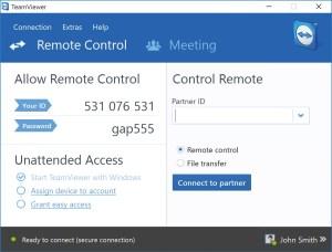 conexão remota ao Raspberry - teamviewer