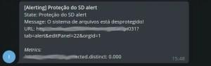 telegram alert in chat bot