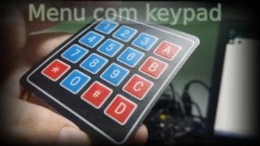 Menu com teclado matricial