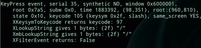 mapear teclado no Linux - xev