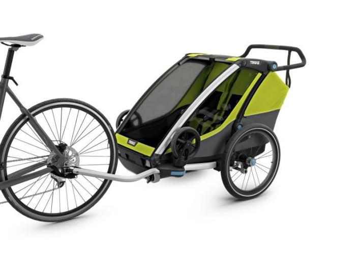 Thule_Chariot_Cab2_Chartreuse_Cycling_InUse_ISO_10204001