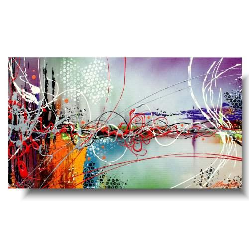 Obraz abstrakcja kolorowy mix