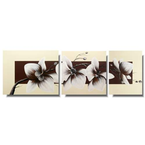 Obraz tryptyk tajemnicza orchidea storczyk