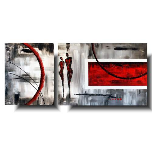 obraz z postaciami czerwona para
