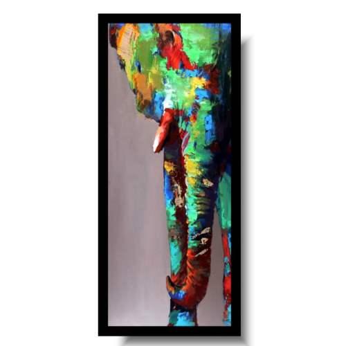obraz słoń w kolorze
