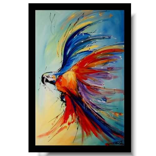 Obrazy nowoczesne ze zwierzętami papuga ara obraz ręcznie malowany akryl 1725A