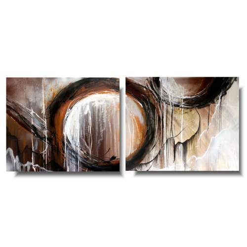 Abstrakcjonizm obraz brązowe koło