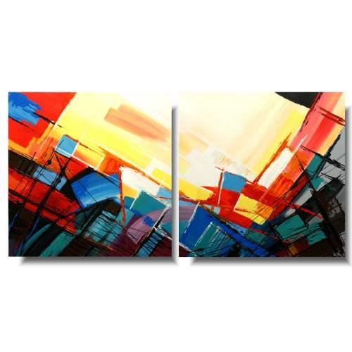 Kolorowa abstrakcja łyk lata