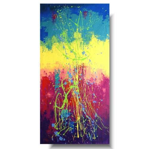 kolorowy modny obraz tęcza