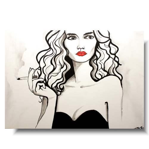 Obraz portretpięknej kobiety