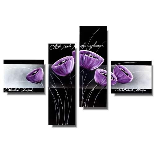 Obrazy do domu fioletowe kielichy