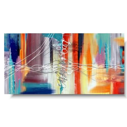 Nowoczesny obraz abstrakcja kolorowa przestrzeń