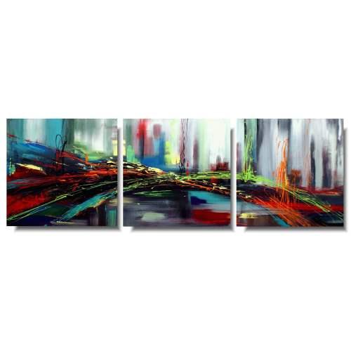 Nowoczesny tryptyk obraz abstrakcja