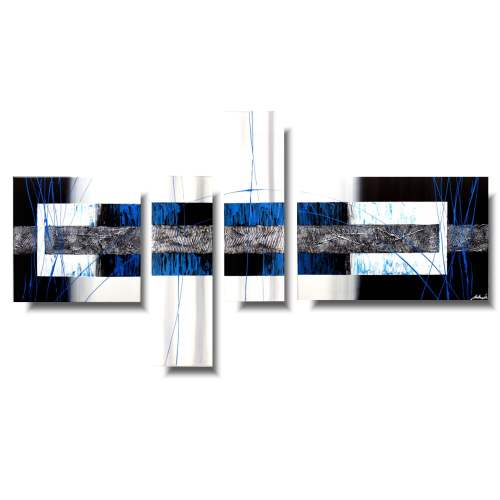 Nowoczesny obraz dzielony niebieska przestrzeń 1144A
