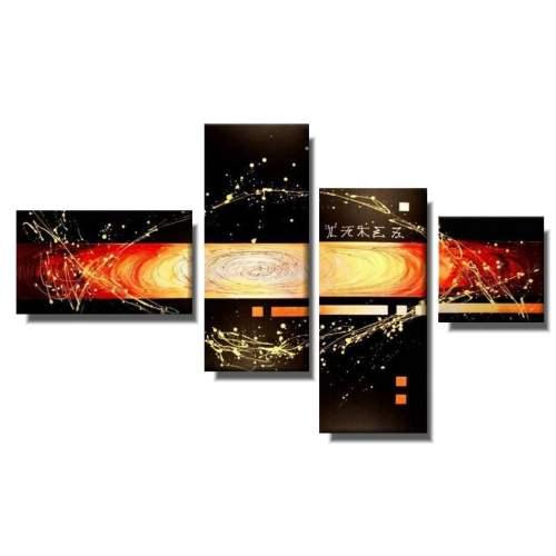 Obraz malowany abstrakcja środek wszechświata