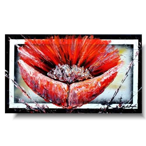 Romantyczny mak obrazy z kwiatami