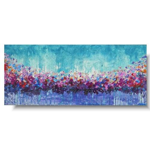 Obraz z kwiatami kwiatowa łąka