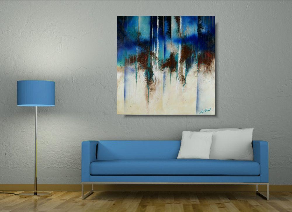Obrazy Abstrakcyjne Do Salonu Abstrakcja Niebieski Szept Obrazy 1794a
