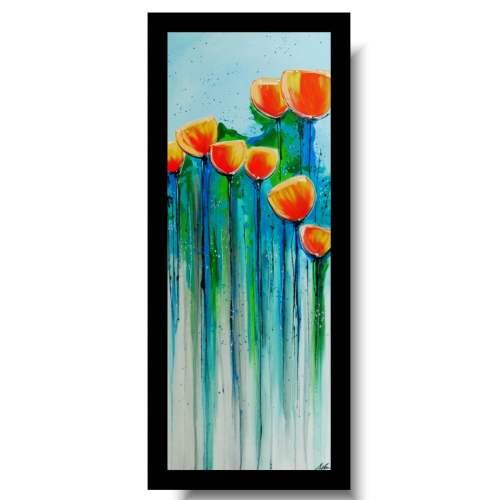 Nowoczesne obrazy z kwiatami maki