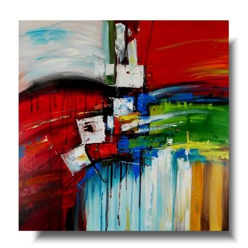 Bardzo kolorowy obraz abstrakcyjny