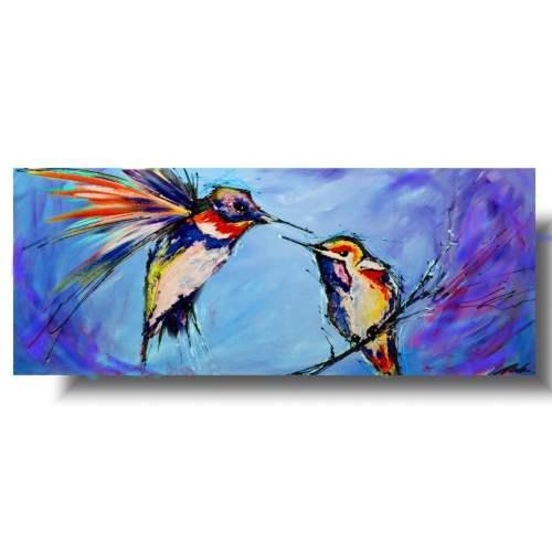 Obraz niebieskie ptaki