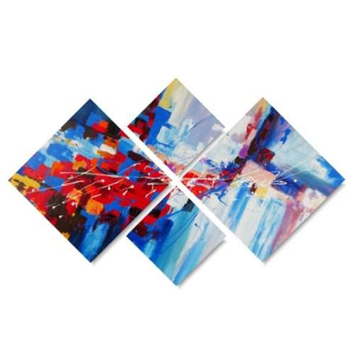 Sztuka współczesna abstrakcja kolorowy zamęt