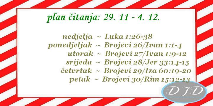 advent - 1. tjedan - plan čitanja