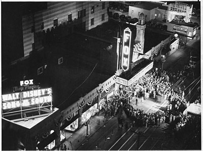 A historical timeline of the Atlanta Fox Theatre.
