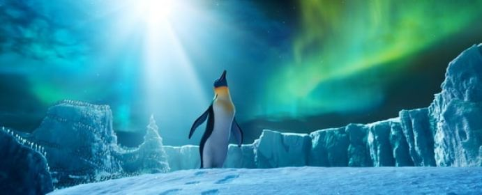 """(L-r) Gloria, voiced by ALECIA MOORE (P!NK), in Warner Bros. Pictures' and Village Roadshow Pictures' animated family comedy adventure """"HAPPY FEET TWO,"""" a Warner Bros. Pictures release."""