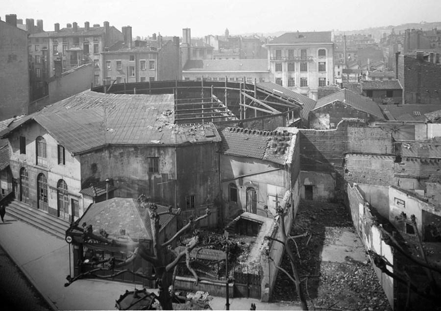 Démolition du Nouvel Alcazar en 1941 - Archives municipales de Lyon