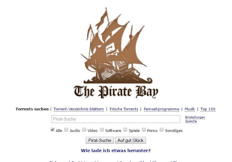 """[ """"Raubkopien!"""" } Illegale Downloads: Pirate Bay beliebt wie nie zuvor!"""