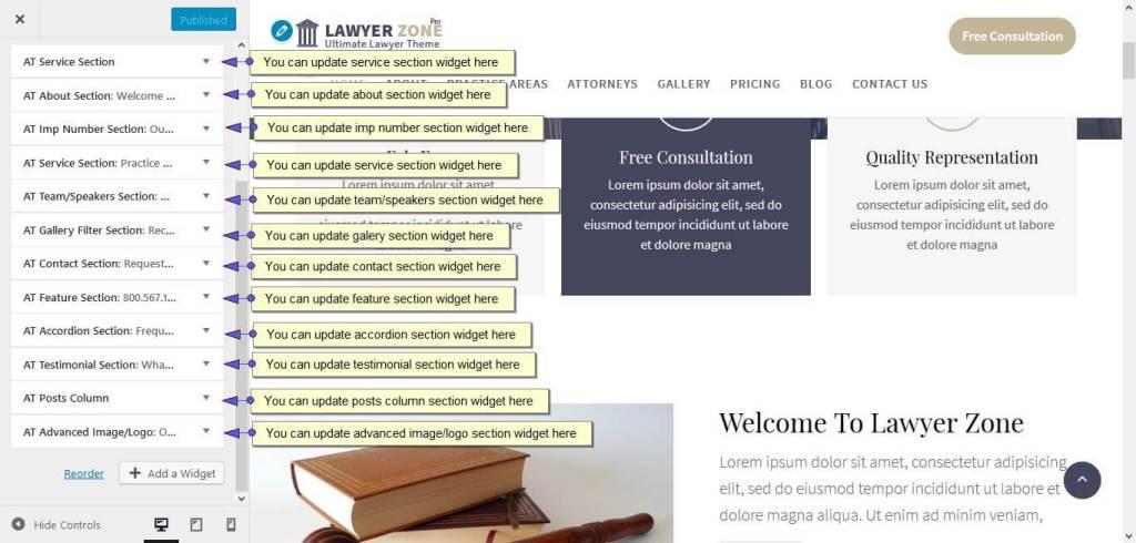 Homepage Widgets
