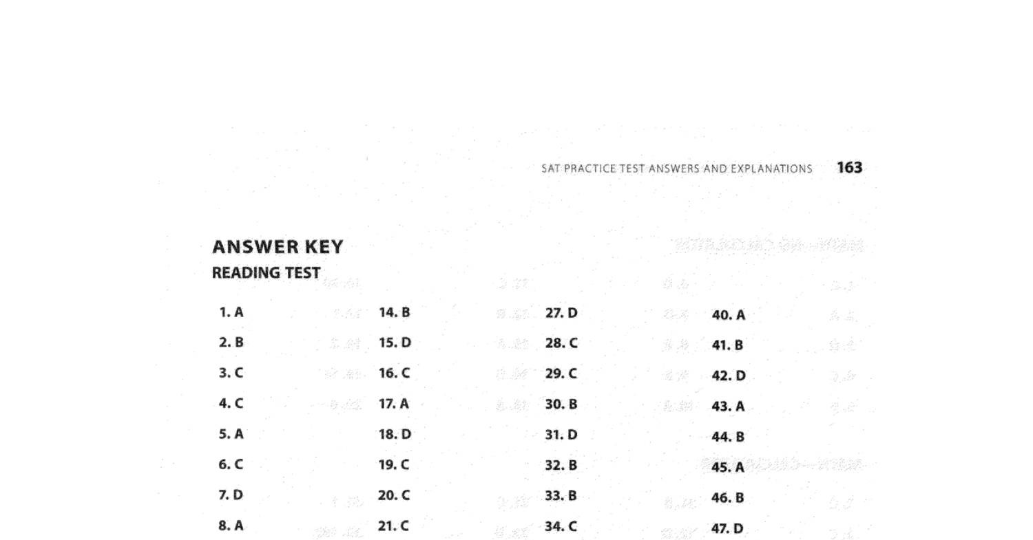Kaplan New Sat Practice Test Answers And Explanations