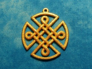 Celtic Knot Shield Pendant